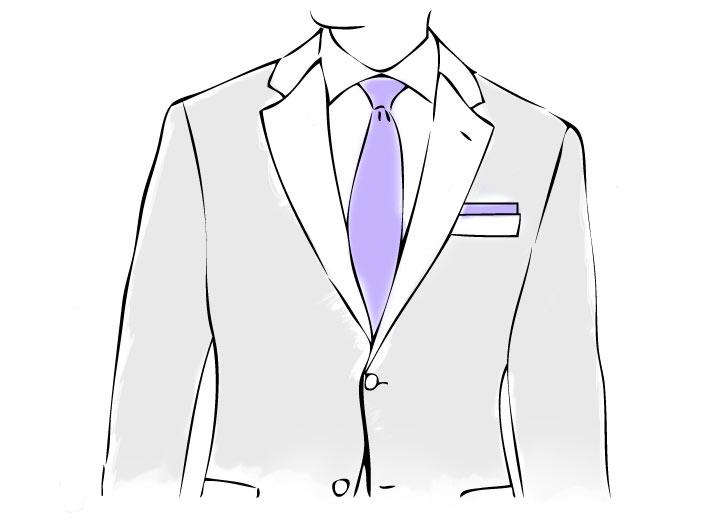 Anzug und Einstecktuch mit Präsidenten Faltweise