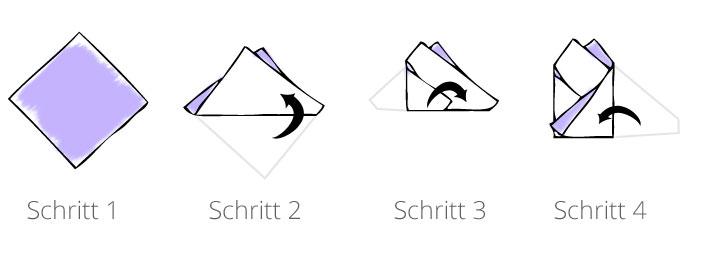 Einstecktuch Zweipunkt Falttechnik Anleitung